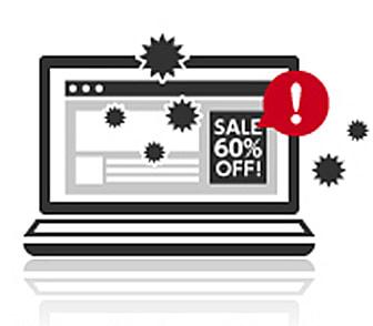 Webサイトを開いただけで感染!?不正なインターネット広告に注意 - チエネッタ